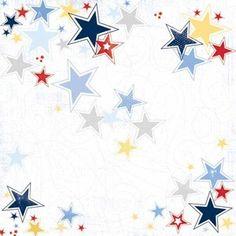 Carolee's Creations - Adornit - All American Collection - 12x12 Paper - Patriotic Stars at Scrapbook.com $0.92