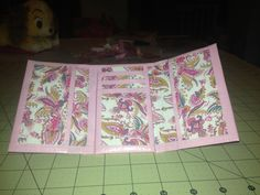 Pink paisley duck tape wallet