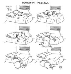 Funny pictures about Depression parkour. Oh, and cool pics about Depression parkour. Also, Depression parkour. Parkour, Hilarious, Funny Memes, It's Funny, Funny Quotes, Funny Sleep, Stress, Three Words, Hilarious Memes