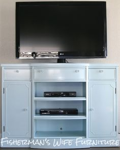 Dresser turned into an Entertainment Center