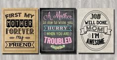 Mother's Day Prints – Available in Chalk, Burlap or Linen