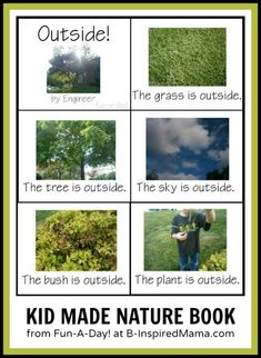 Homemade Book about Nature from Fun-A-Day! at B-InspiredMama.com #kids #learning #nature #kbn