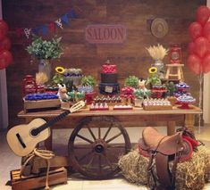 This Cowboy birthday backdrop is cute and rustic. It's a great decoration for cowboy birthday parties. Rodeo Birthday Parties, Rodeo Party, Cowboy Theme Party, Mexican Birthday Parties, Horse Party, Cowgirl Birthday, Farm Birthday, Farm Party, Horse Birthday
