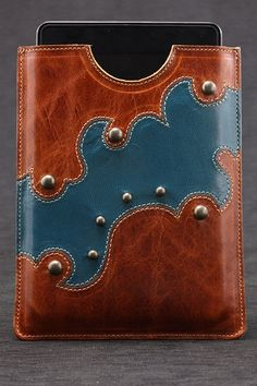 Ethos Custom Brands - Amberquoise Tablet Cover Tech Accessories - Hand-crafted Leather Products