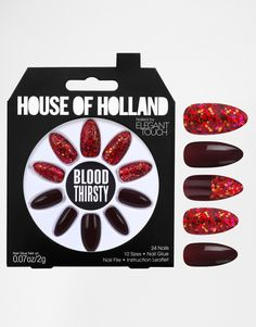 Image 1 ofHouse Of Holland Nails By Elegant Touch - Blood Thirsty
