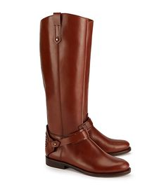 Tory Burch Derby Riding Boot. Color: Almond. Size: 8