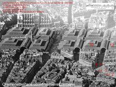 les Pavillons Baltard et les 3 Cremeries de Paris, les Pavillons Beurres, Oeufs et Fromages se trouvet à proximoité de la rue des Halles Old Pictures, Old Photos, Place Vendôme, Old Paris, History Images, Paris City, Paris Photos, Gauche, Saint Germain