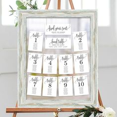 Wedding Seating Chart Template Set Printable Table Seating