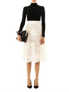 DOLCE & GABBANA Lace A-line skirt
