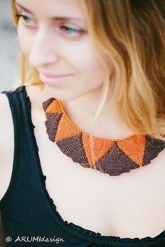 One of a kind AFRICA micro macrame necklace handmade by ARUMIdesign