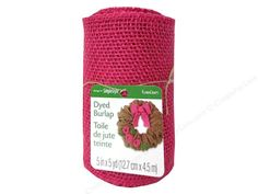 FloraCraft Burlap Ribbon can be used in a number of craft projects. Finish wreaths, packages or DIY decor projects. Pink Ribbon is solid Pink burlap. The edges are serged. 5 inch x 5 yard.