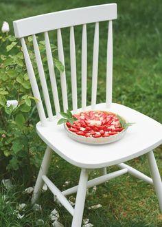 Tarte aux fraises et crème végétale au sureau - Recette sans gluten ...