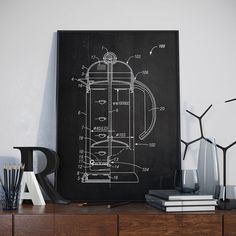 Coffee Making Patent Print Coffee Patent Cafe Patent by dalumna