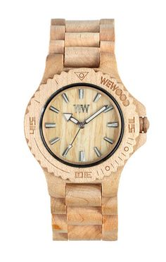 I adore my wewood Date beige watch. Made from post consumer recycled materials (wood). For every watch you buy, they plant a tree!