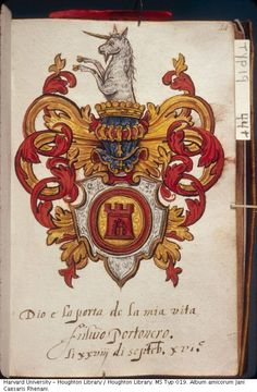 LinkKeyser, Jan de. Title : LinkAlbum amicorum Jani Caesaris Rhenani; h.e. Jan de Keyser geb. te Rhenen : manuscript, 1585-1609. INTERNET LINK : http://nrs.harvard.edu/urn-3:FHCL.HOUGH:753810 [ Color digital images available of selected images ] http://nrs.harvard.edu/urn-3:FHCL.HOUGH:2446154 [ Bibliography ]