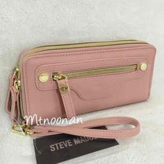 I just listed NWT Steve Madden Pink Double Zip Around Wallet Wristlet… ($35 FREE SHIPPING) on Mercari! Come check it out!