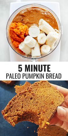 Paleo Pumpkin Pie Breakfast Egg Muffins from The Whole Smiths. Paleo, gluten-free and delicious! So easy to make and the perfect sweet snack or on-the-go breakfast for fall and winter! Healthy fall baking at its best Fall Recipes, Whole Food Recipes, Cooking Recipes, Bread Recipes, Detox Recipes, Paleo Baking, Bread Baking, Baking Soda, Paleo Pumpkin Bread