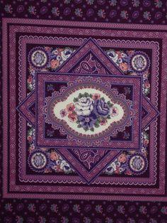 Beautiful Vintage Fabric Panel by KoopsKountryKalico on Etsy, $5.99