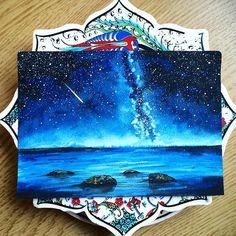 Starry night...watercolour on A6 paper.. #nofilter the photo is taken in daylight.. Follow @dmz_artistclub for more!  #durmazart#art#artist#artwork#artfido#arts_help#arts_gallery#art_realisme#artmagazine#artmotive#artistic_share#arqsketch#nawden#proartists#justartspiration#worldofartists#worldofpencils#sketch#sketch_daily#instartpics#instaart#arts_secret#instaartist