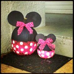 Minnie Mouse No Carving Pumpkin