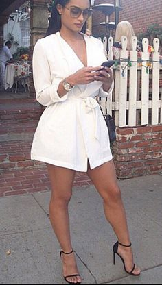 Affordable All White Party Outfits Ideas 01 All White Party Outfits, White Outfits For Women, Classy Outfits, Chic Outfits, Fashion Outfits, Clothes For Women, White Romper Outfit, All White Romper, All White Outfit