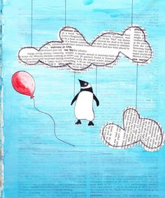 Penguin in Clouds by ~pixieshoes on deviantART
