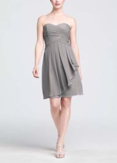 @Tammy Wong's choice: Short Crinkle Chiffon Dress with Front Cascade Style F14847