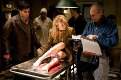 Eli Roth and Diane Kruger on the set of Inglourious Basterds (2009), directed by Quentin Tarantino.