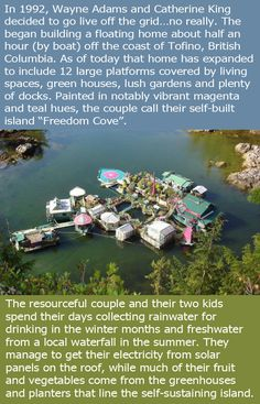 Couple Spends Over 20 Years Building A Self Sustaining Island They Can Live On - 13 Pics The More You Know, Did You Know, Wtf Fun Facts, Random Facts, Self Sustaining, Faith In Humanity, Story Time, Mind Blown, Good People
