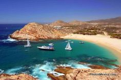 Santa Maria Beach, just outside of Cabo, is a great place for swimming and snorkeling.