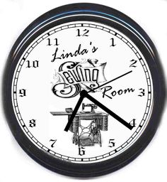 will be my new clock with  my name on it for my new sewing room