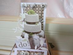 """""""Surprise-in-a-Box"""" Wedding Card by Mary's Paper Blessings."""