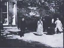 -Oldest movie- Oldest surviving film in existence (filmstill). Roundhay Garden Scene, 1888, directed by French inventor Louis Le Prince.