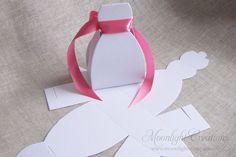 Bridal Shower Favors, Dress Favor Boxes, Wedding Shower Favor, Bachelorette Favor. $30.00, via Etsy.