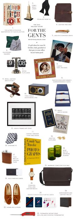 On the blog: 25 Gift Ideas for the Gents
