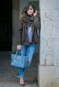 Look by @ponteunostacones with #parka #casual #zara #invierno #faldas #jacket #jeans #denim #heels #vaqueros #stripes #otoño #leopardo #parkas #zapatos #leopard #winter #beige #elegante #school #chaquetas #shoes #chic #military #vaquero #jackets #bags #print #comfy #verde #striped #new #street #camouflage #diario #azul #cool #outfit #basicos #animal #tee #leo #ootd #outfits #jens #look #daily #looks.