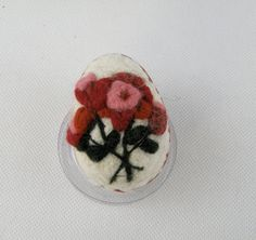 Needle felted egg by WorldOrnaments on Etsy