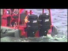 Um estado sólido, o laser de alta energia (HEL) desativa os motores do barco no pequeno teste.