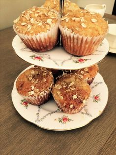 Muffins miel, poire et yogourt