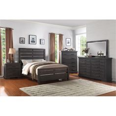 If you're looking to add casual, contemporary beauty to your bedroom, look no further than the Revolution 6-piece queen bedroom set.
