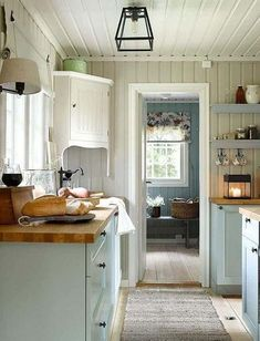 home_decor - A Scandinavian Cottage Makeover Scandinavian Cottage, Swedish Cottage, Swedish Decor, Scandinavian Style, Swedish Interior Design, Swedish Farmhouse, Swedish Kitchen, Yellow Cottage, Kitchen Rustic