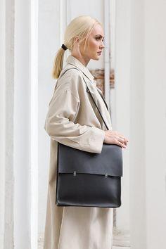 Leather backpack-handbag Universal leather by KeepAnEyeLeather