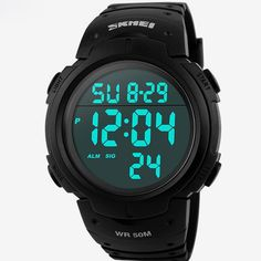 Skmei Luxury Brand Mens Sports Watches Dive 50m Digital LED Military Watch Men Fashion Casual Electronics Wristwatches Hot Clock Like if you remember  #shop #beauty #Woman's fashion #Products #Watch