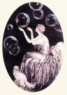 "Louis Icart ""Bubbles"""