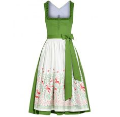 dream dirndl with illustrated apron by Tostmann