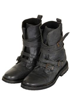 ARRESTED Buckle Biker Boots