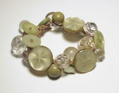 vintage button bracelet Too Fun Button Jewelry Pinterest
