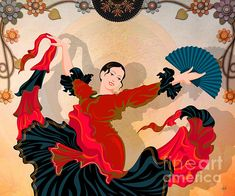 Flamenco Dancer - Art print by Bedros Awak