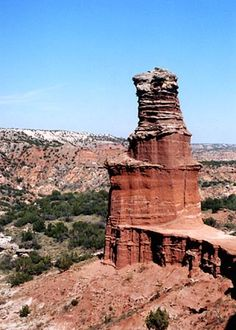 The Lighthouse is the most famous rock formation in Palo Duro Canyon State Park