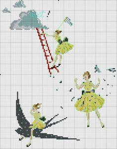 "Gallery.ru / Фото #3 - Icones de mode"" Helene le Berre - Ulka1104 Cross Stitch Embroidery, Cross Stitch Patterns, Cross Stitch Books, Hand Stitching, Friendship Bracelets, Needlework, Crafty, Sewing, Children"